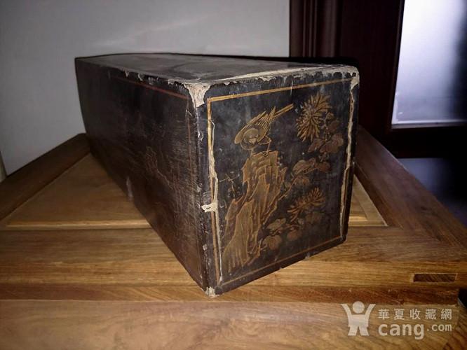 清代漆画木盒图4