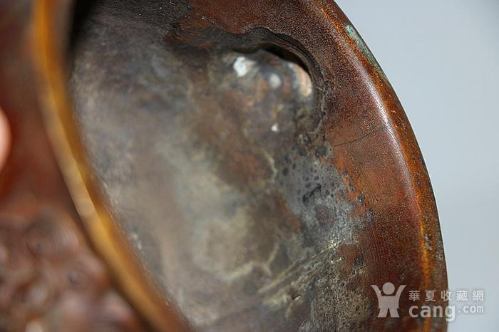 狮耳栗色老铜炉图7