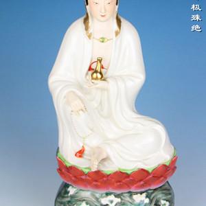 民国粉彩观音菩萨造像