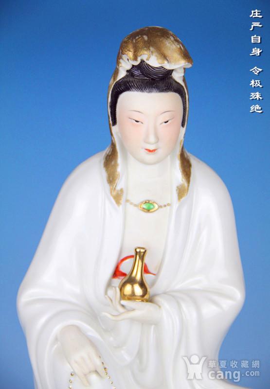 民国粉彩观音菩萨造像图3
