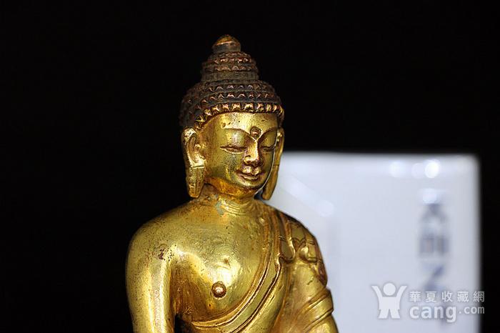 清鎏金释迦牟尼佛造像图1