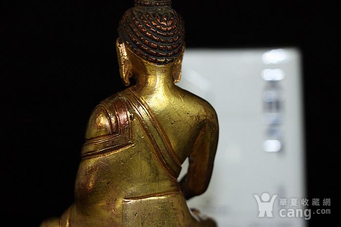 清鎏金释迦牟尼佛造像图5