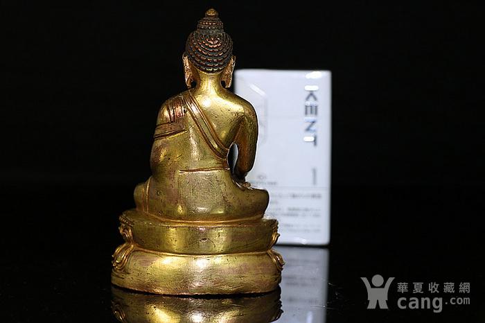 清鎏金释迦牟尼佛造像图4