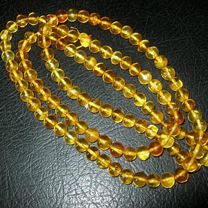 高品质纯天然原矿琥珀链子1号