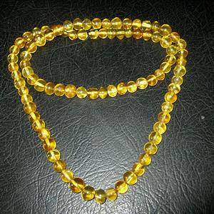 高品质纯天然原矿琥珀链子2号