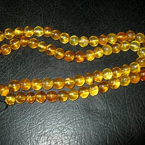 高品质纯天然原矿琥珀链子3号