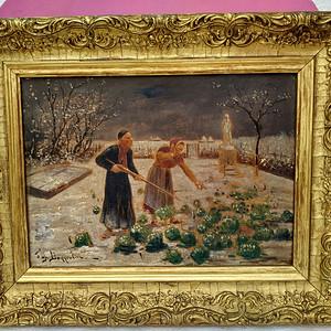 十九世纪法国名家作:菜园守猎