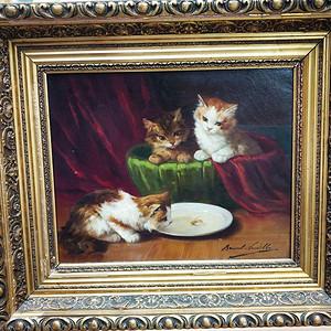 法国巴黎名家作:三只小猫  欧洲直邮