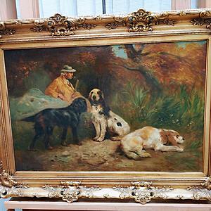 比利时画家作:猎人和他的伙伴