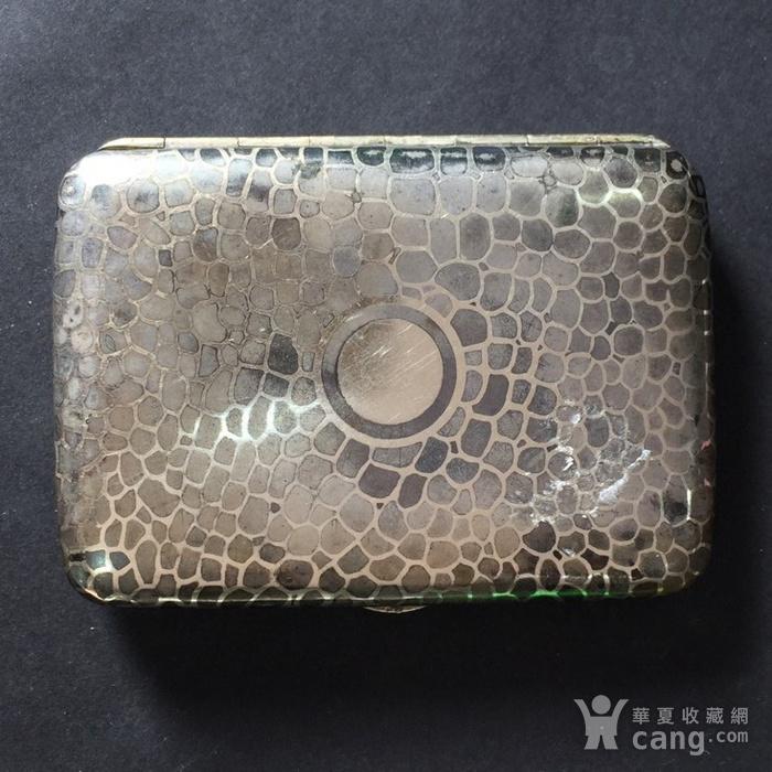8116欧洲回流老合成银烟盒图1
