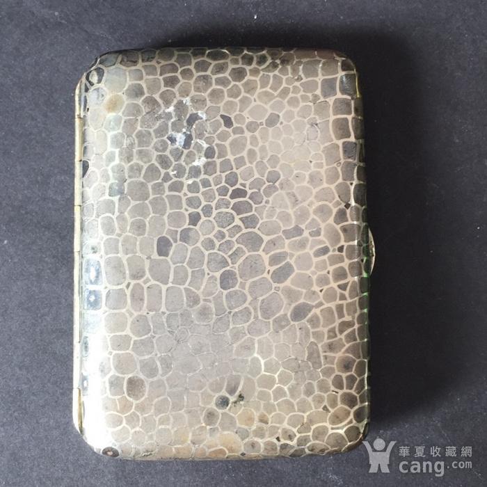 8116欧洲回流老合成银烟盒图2
