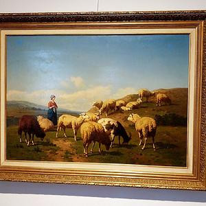 本场压轴  比利时名家作:牧羊女孩