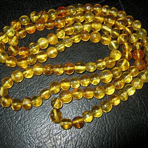 高品质纯天然原矿琥珀链子5号