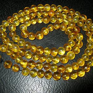 高品质纯天然原矿琥珀链子7号
