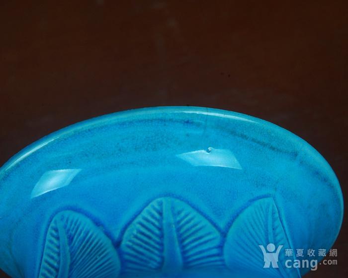 景德镇十大瓷厂老厂货瓷器 建国瓷厂法翠暗雕冬瓜瓶图9