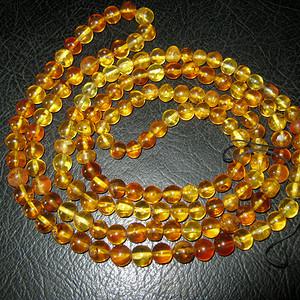 高品质纯天然原矿琥珀链子11号