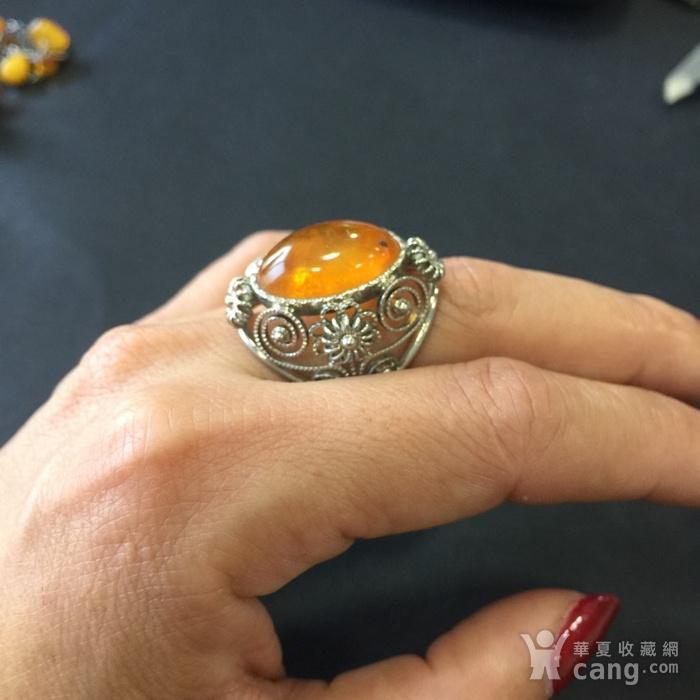 8141欧洲回流白铜镶嵌蜜蜡戒指图10