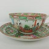 清 广彩人物薄胎茶杯3c37d5