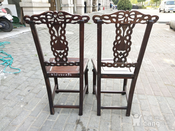 一对非常漂亮的灯笼腿椅子图6