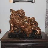 清代雕工超好木雕狮子