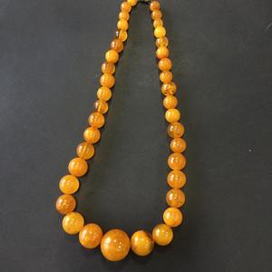 8011欧洲回流老蜜蜡圆珠项链