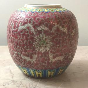7010 民国粉彩寿字小罐