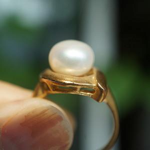欧洲天然珍珠戒指