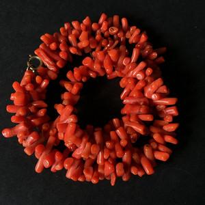 8086欧洲回流随形老珊瑚项链
