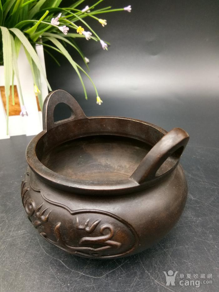 清精致铜香炉图5