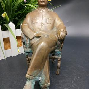 文革时期毛主席铜像摆件