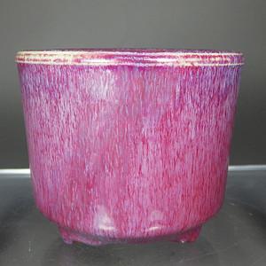 乾隆红釉三足筒式香炉