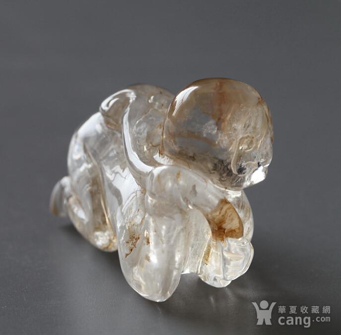 精品,水晶圆雕  持荷童子图5