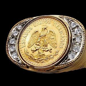 鹰币式大戒指