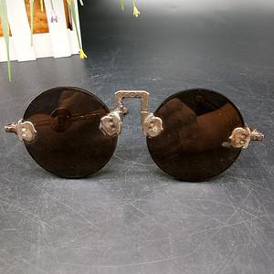 清至民国天然水晶养眼眼镜