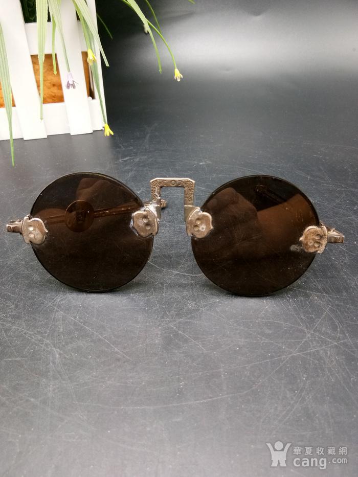 清至民国天然水晶养眼眼镜图1