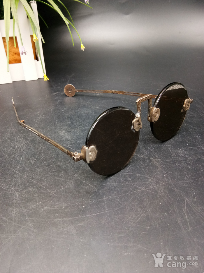 清至民国天然水晶养眼眼镜图3