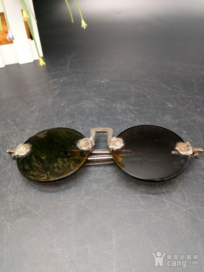 清至民国天然水晶养眼眼镜图8