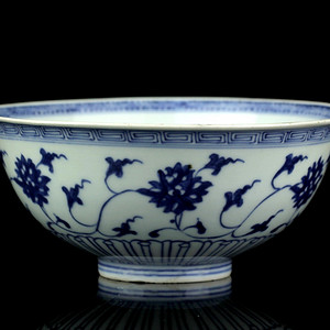1清雍正青花缠枝纹大碗