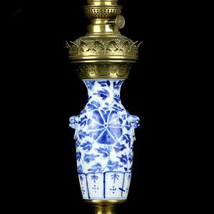 40清中期青花瓶油灯