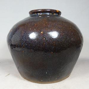 清代紫砂宜均釉茶叶罐