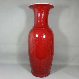 乾隆大号红釉赏瓶