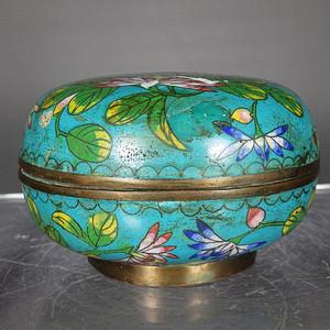 清代景泰蓝花卉盖盒