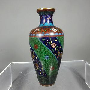 清代景泰蓝花卉赏瓶
