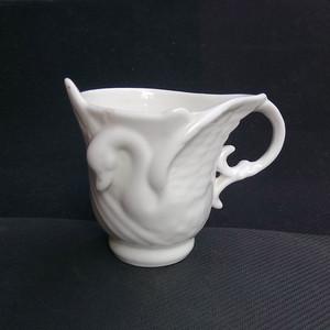 联盟 精美白瓷天鹅杯