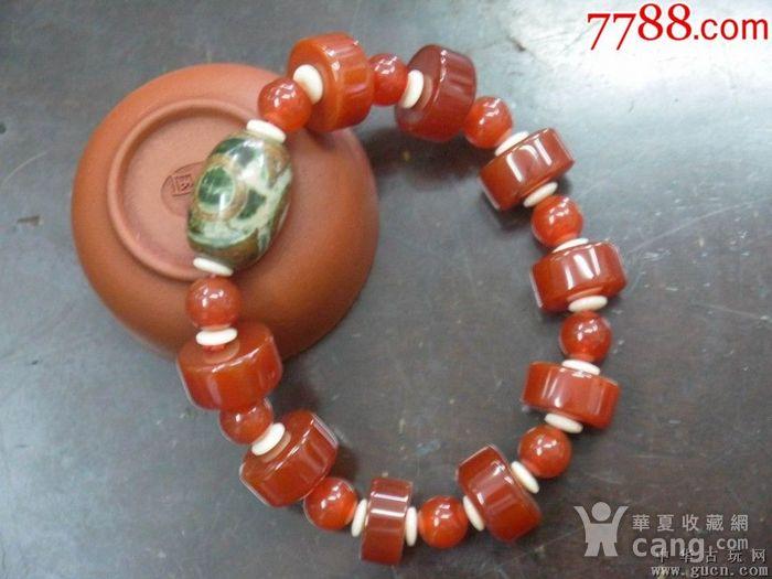 民国早期老玛瑙手链一件图1