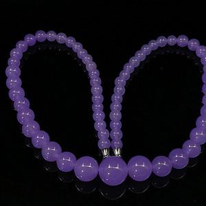 缅甸冰种紫罗兰翡翠塔链项链