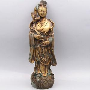 老铜打造 道家神像 摆件风化清晰
