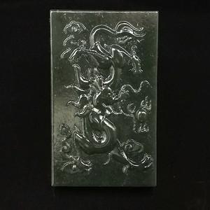 新疆和田青玉雕刻龙牌子