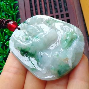 冰润飘绿一路平安吊坠