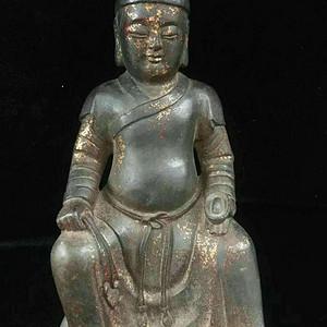 海外回流纯铜精工财神造像
